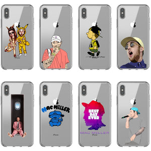 Macs Miller Case silicone Soft Phone Case For iPhone X Rapper Case Back Covers For iPhone 5 5s SE 6 6SPlus 7 8 Plus XR XS MAX