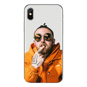 Macs Miller Hard Matte transparent Plastic Caso Capa para o iPhone Da Apple 4 5 6 7 8 Plus X XR Xmax Casos de Telefone Coque