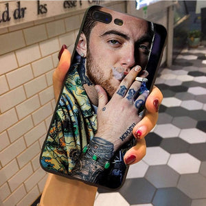 MaiYaCa Mac Miller Pattern Rubber tpu Soft Phone Accessories Cover Case For iphone X 8 8plus for iphone 7 7plus 6 6s plus 5 5s