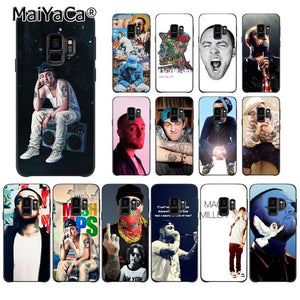 MaiYaCa Macs Miller Black Soft Shell Phone Cover for Samsung Galaxy S8 S7 edge S6 edge plus S5 S9 Pluscase