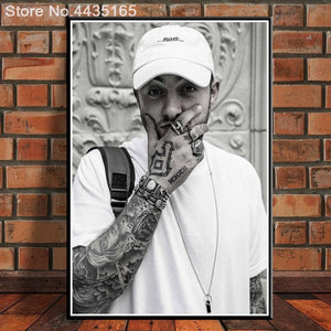 Posters and Prints Hot Mac Miller R.I.P New 2018 Hip Hop Rapper Music Singer Star Album Poster Home Decor for Living Room