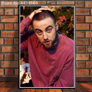 RIP Custom poster Mac Miller canvas painting poster New arrival wall Art poster Fabric Cloth Print for Living Room Home Decor