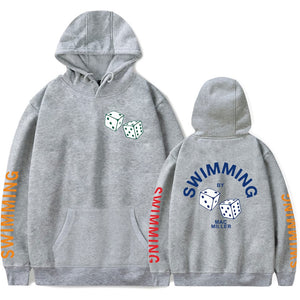Mac Miller Hoodie-Swimming Grey