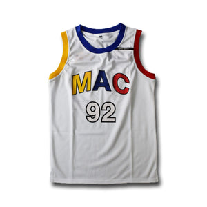 Mac Miller #92 R.I.P White Basketball Jersey