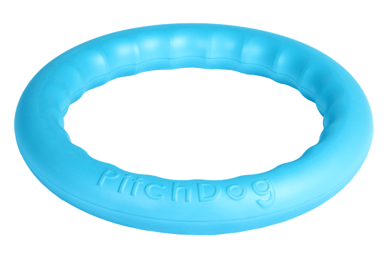 PitchDog Toy Ring Blue Medium
