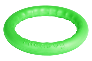 PitchDog Toy Ring Green Large