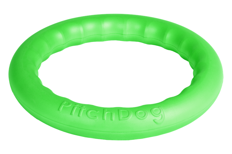 PitchDog Toy Ring Green Medium