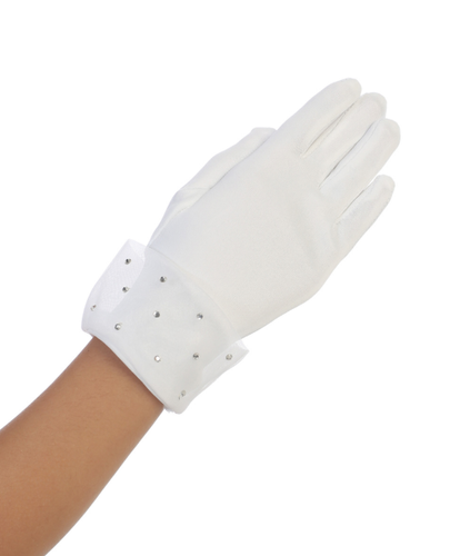 Tip Top - Sheer Cuff with Rhinestones Glove