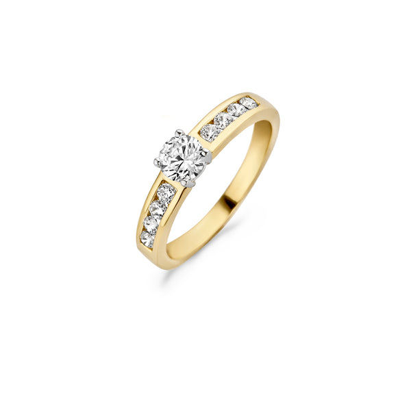 Ring 1126BZI -  Gold and White Gold (14Crt.) with Zirconia