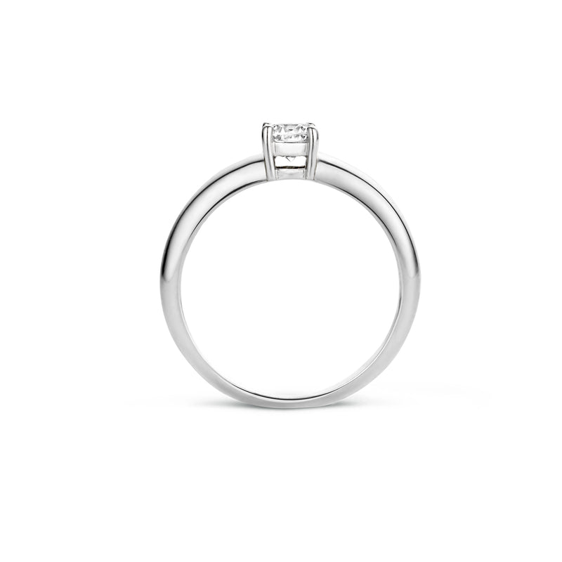 Blush Ring 1129WZI -  Wit Goud (14Krt.) met Zirconia