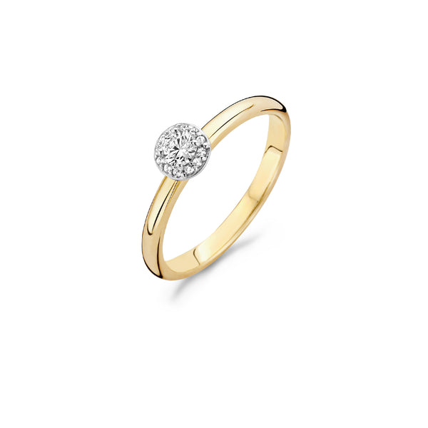 Ring 1131BZI -  Gold and White Gold (14Crt.) with Zirconia