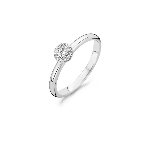 Blush Ring 1131WZI -  Wit Goud (14Krt.) met Zirconia