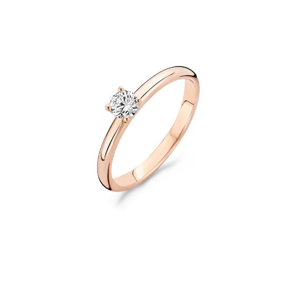 Ring 1132RZI -  Rose Gold  (14Crt.) with Zirconia
