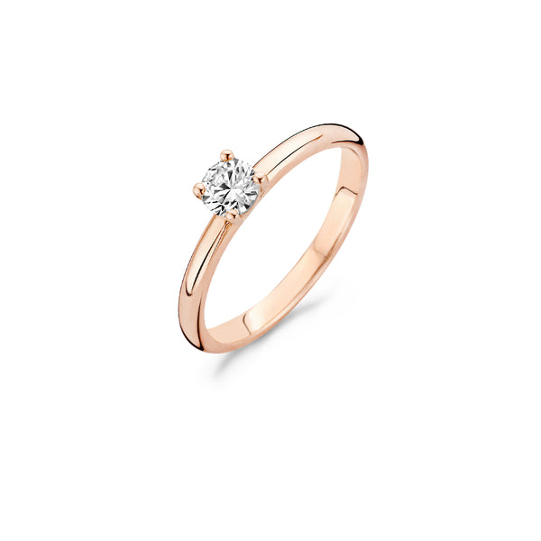Ring 1133RZI -  Rose Gold  (14Crt.) with Zirconia