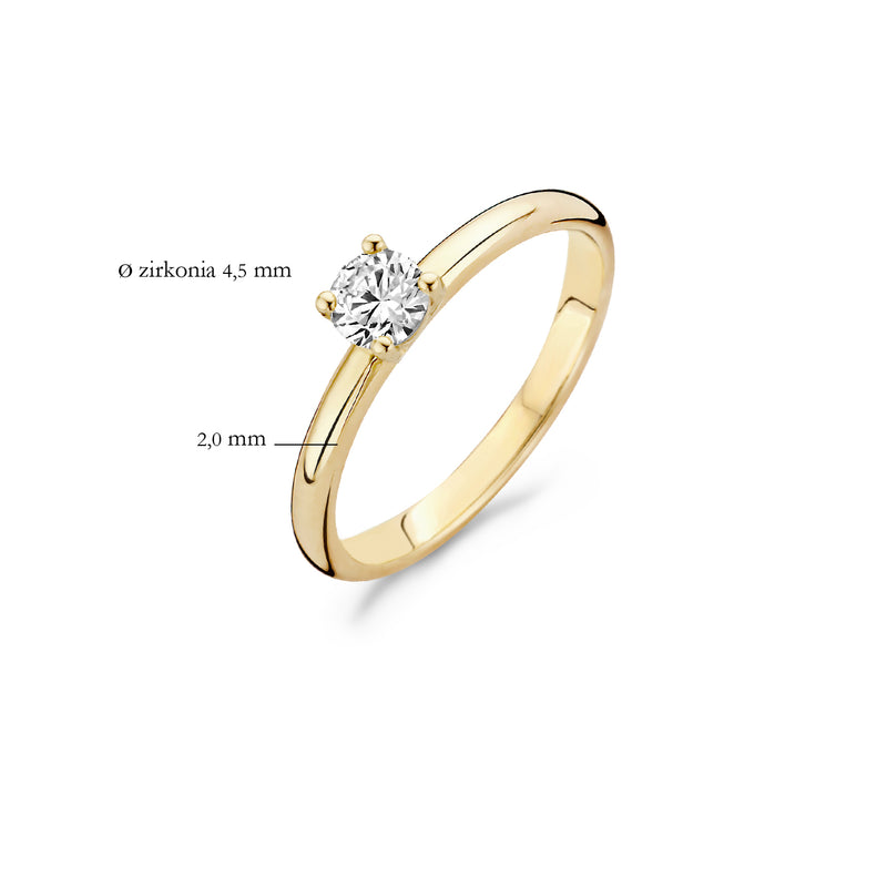 Ring 1133YZI -  Gold (14Crt.) with Zirconia