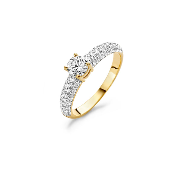 Ring 1135YZI - Yellow Gold (14Crt.) with Zirconia