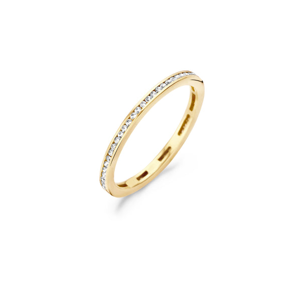 Ring 1138YZI - Yellow Gold (14Crt.) with Zirconia