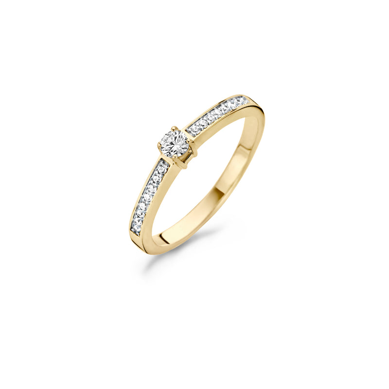 Ring 1145BZI - Gold (14Crt.) with Zirconia