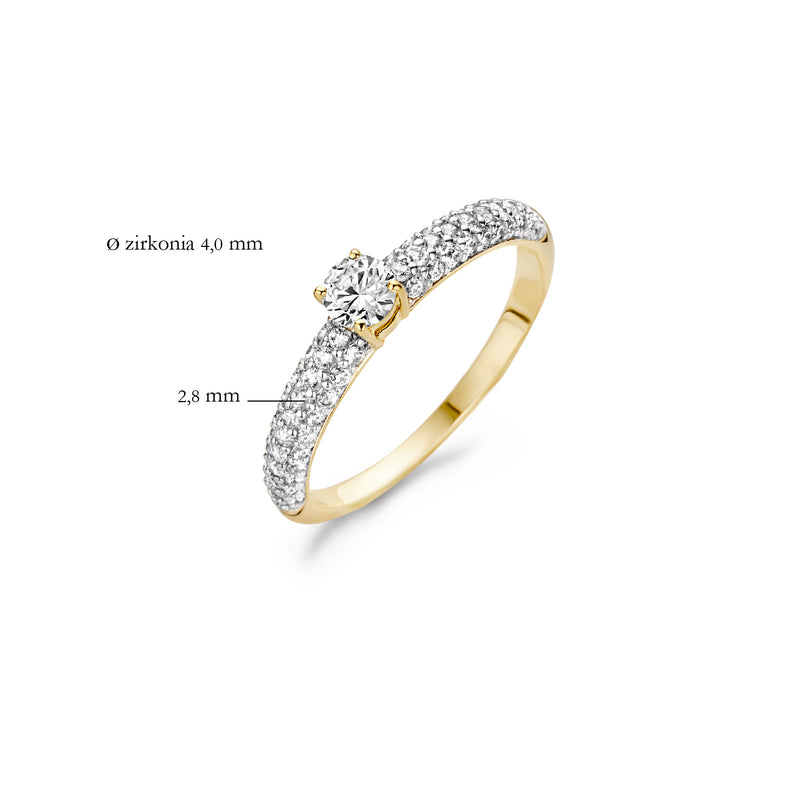 Ring 1146BZI -  Gold and White Gold (14Crt.) with Zirconia