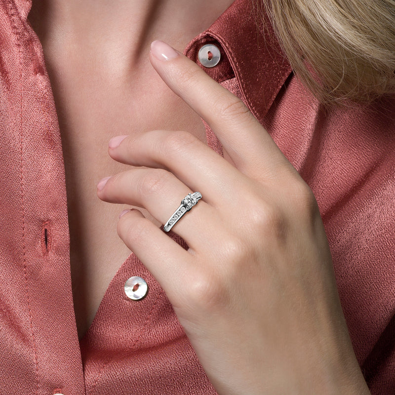 Blush Ring 1154WZI -  Wit Goud (14Krt.) met Zirconia