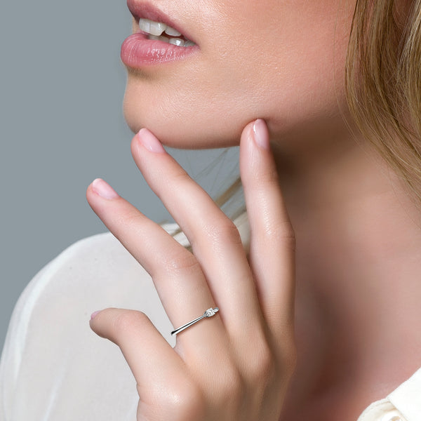 Blush Ring 1186WZI - Witgoud (14Krt.) met Zirkonia