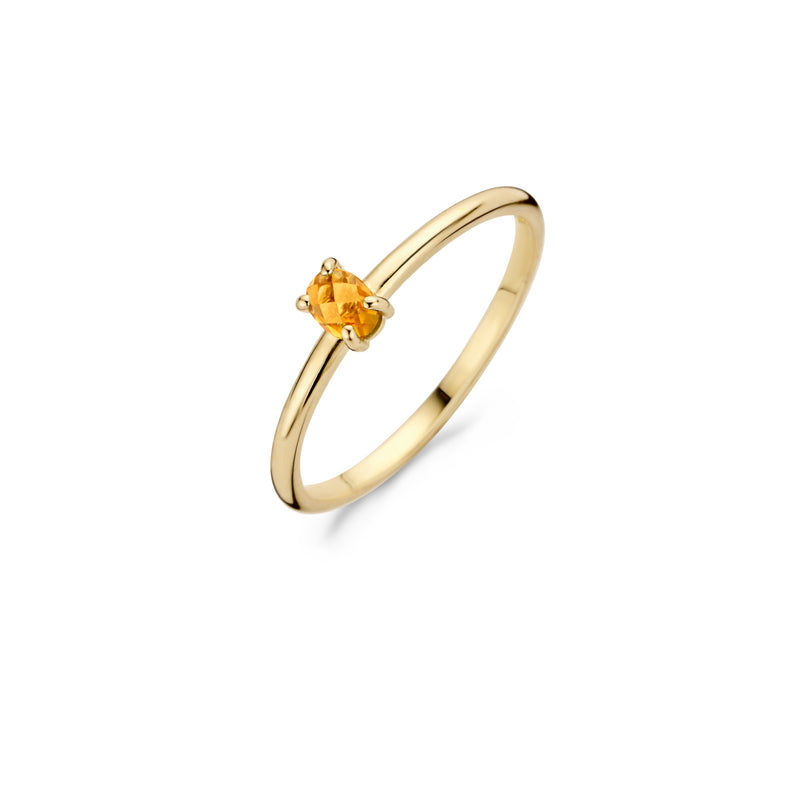 Blush Ring 1204YCI - Geelgoud met Citrine (14krt.)