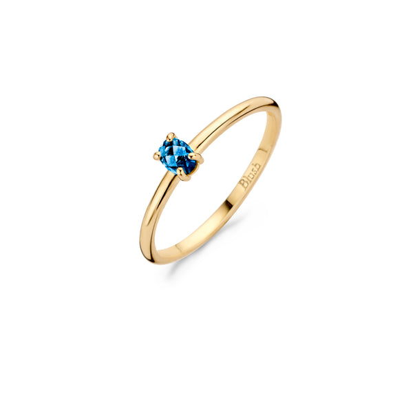 Ring 1204YLB - Yellow gold with Blue Topaz (14Crt.)