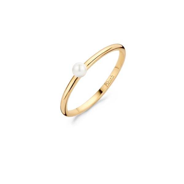 Ring 1213YPW - Yellow gold with Pearl (14Crt.)