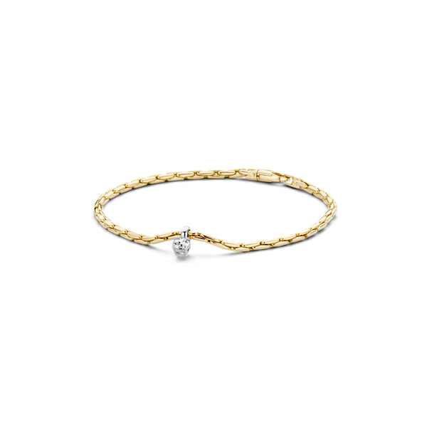 Bracelet 2156BZI - Gold and White Gold (14Crt.) with Zirconia