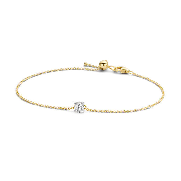 Bracelet 2166BZI - Gold and White Gold (14Crt.) with Zirconia