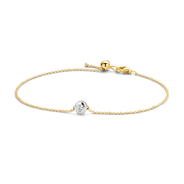 Bracelet 2167BZI - Gold and White Gold (14Crt.) with Zirconia