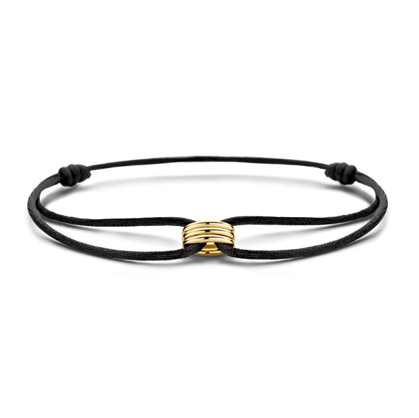 Bracelet 2173YGO - Yellow Gold with silk cord (14Crt.)