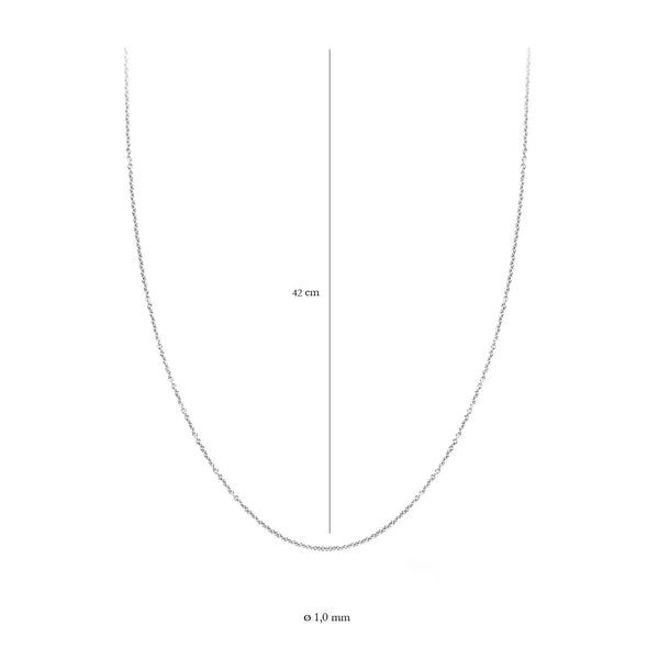 Blush Ketting 3046WGO/42 -  Wit Goud (14Krt.)