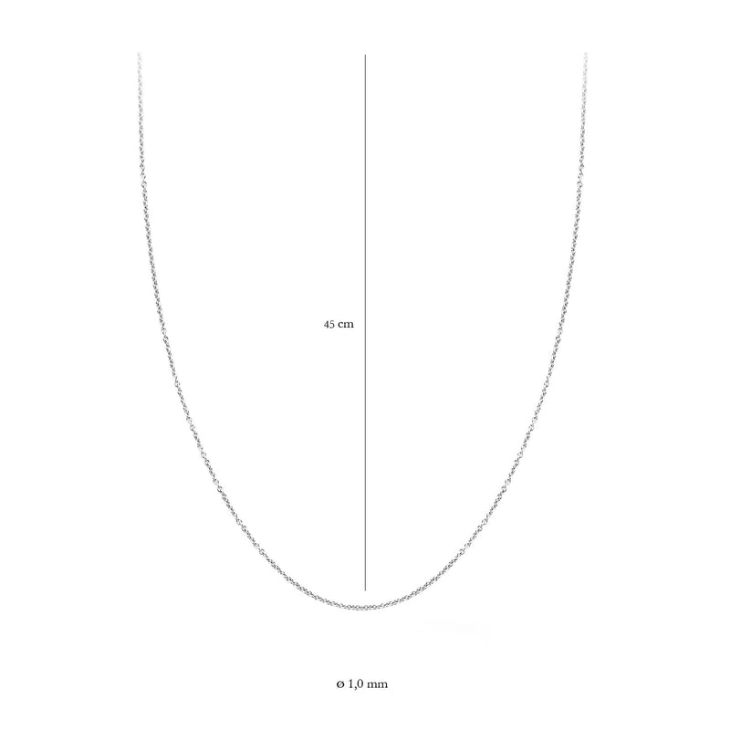 Blush Ketting 3046WGO/45 -  Wit Goud (14Krt.)