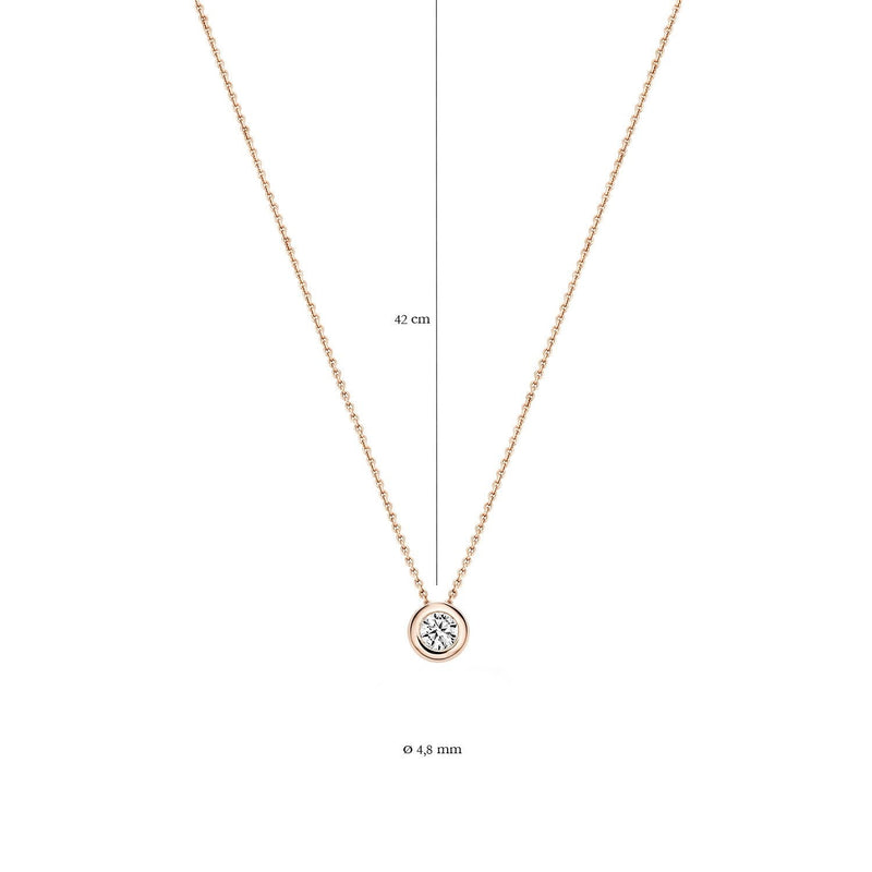 Necklace 3052RZI - Rose Gold  (14Crt.) with Zirconia