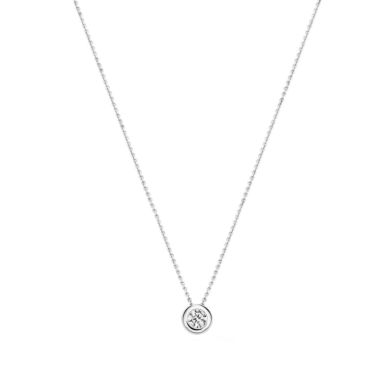 Necklace 3052WZI - White Gold (14Crt.) with Zirconia