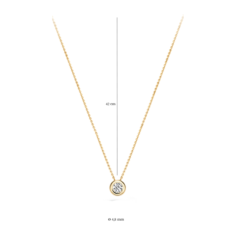 Necklace 3052YZI - White and yellowgold (14Crt.) with zirconia