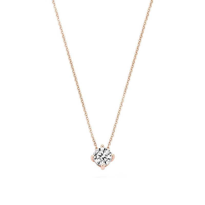 Necklace 3057RZI - Rose Gold (14Crt.) with Zirconia