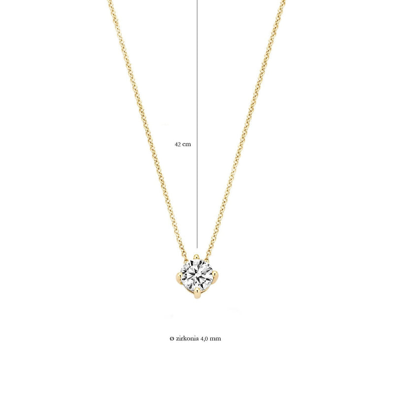 Necklace 3057YZI - Gold (14Crt.) with Zirconia