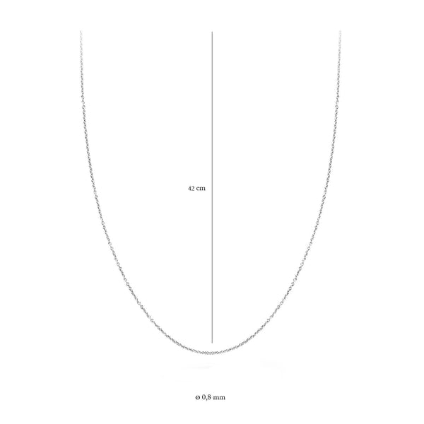 Blush Ketting 3058WGO/42 -  Wit Goud (14Krt.)