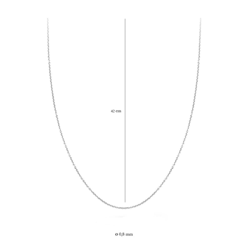Necklace 3058WGO/42 -  White Gold (14Crt.)