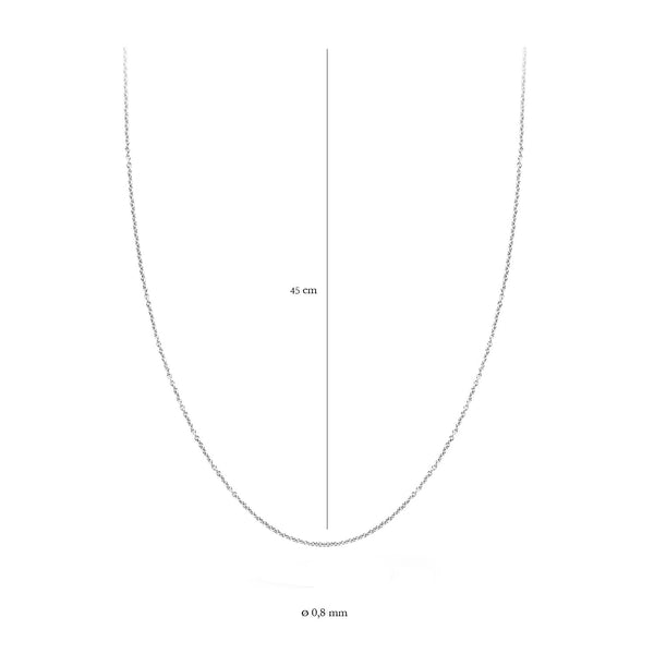 Blush Ketting 3058WGO/45 -  Wit Goud (14Krt.)