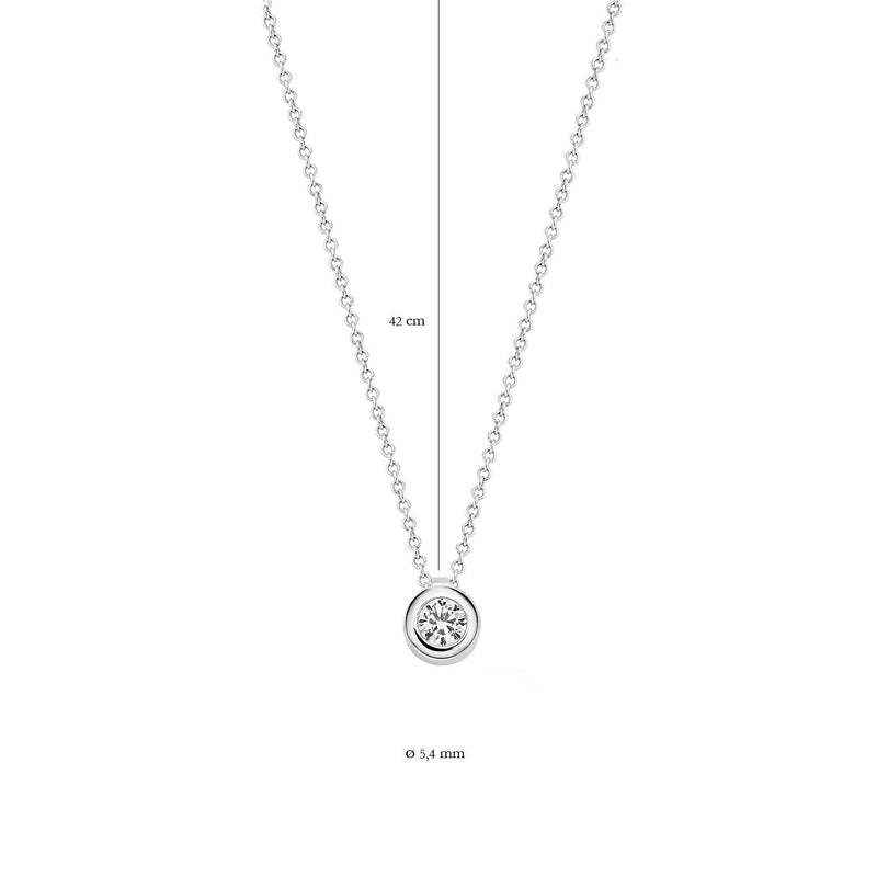 Necklace 3067WZI - White Gold (14Crt.) with Zirconia