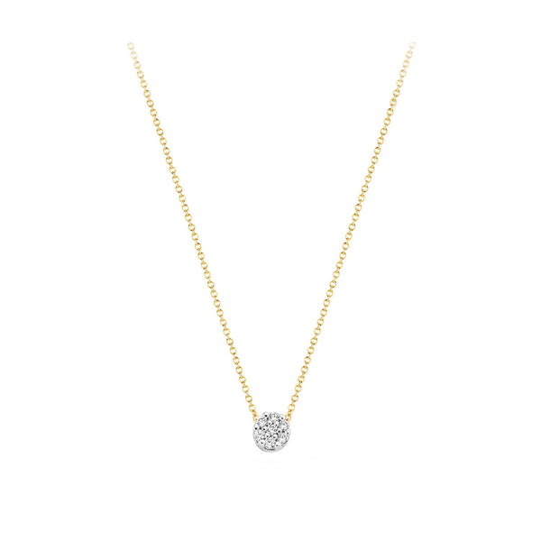 Necklace 3077BZI - Gold and White Gold (14Crt.) with Zirkonia