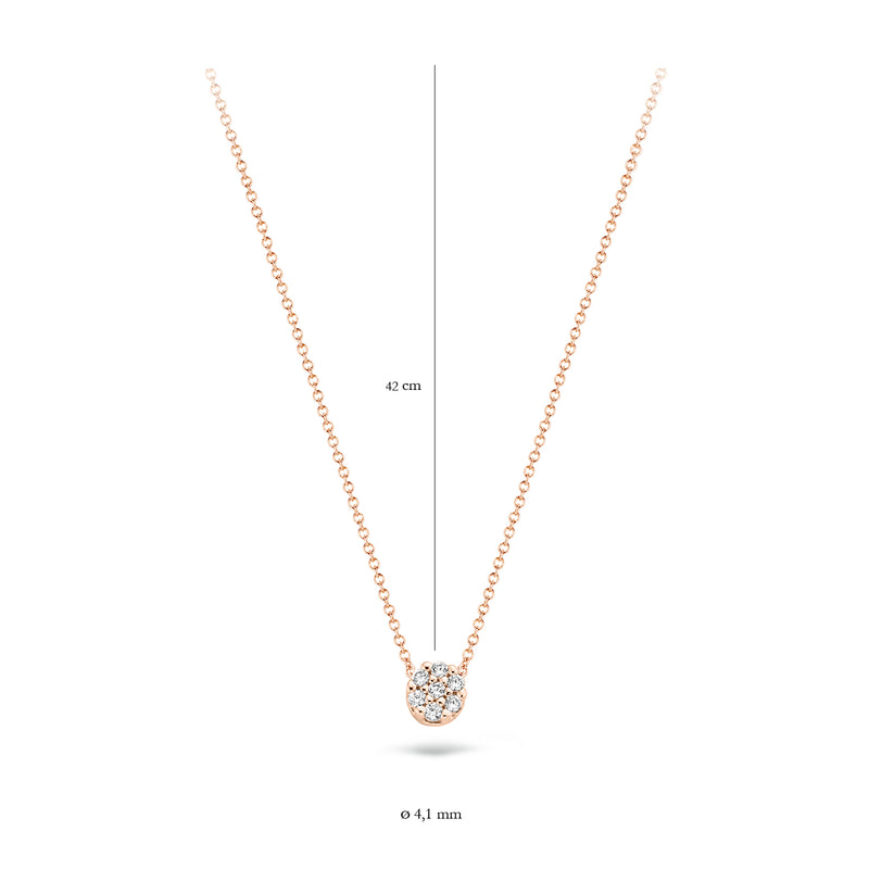 Blush Collier 3077RZI - Rose gold (14Krt.) met Zirkonia