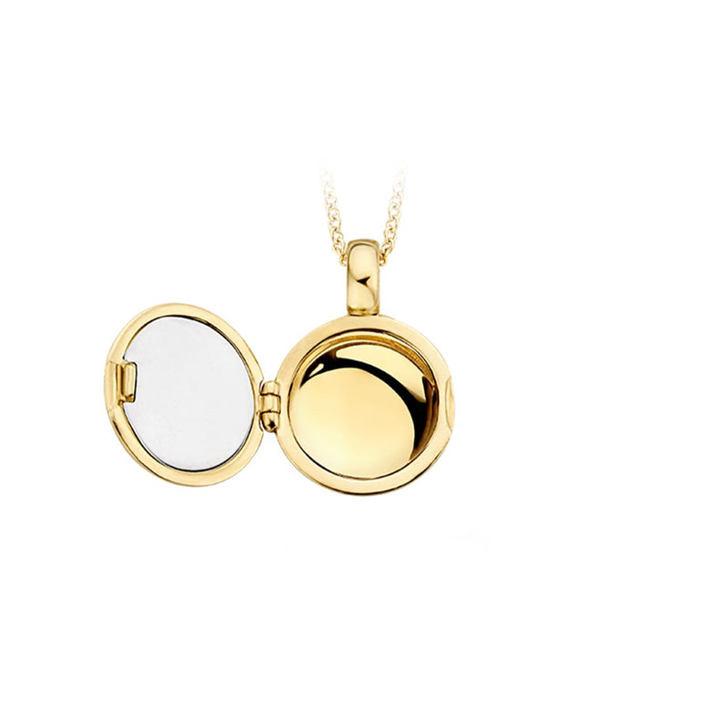 Locket 6085YZI - Yellow gold with Zirconia (14Crt.)