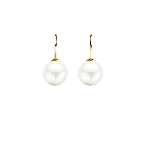 Earrings 7050YPW - Gold (14Crt.) with Swarovski Pearl