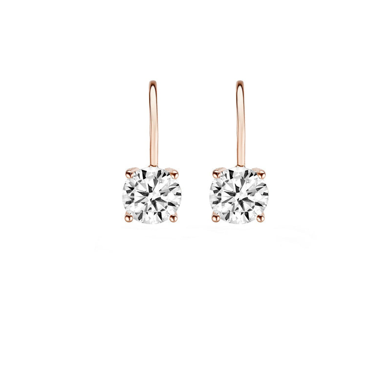 Earrings 7055RZI - Rose Gold (14Crt.) with Zirconia