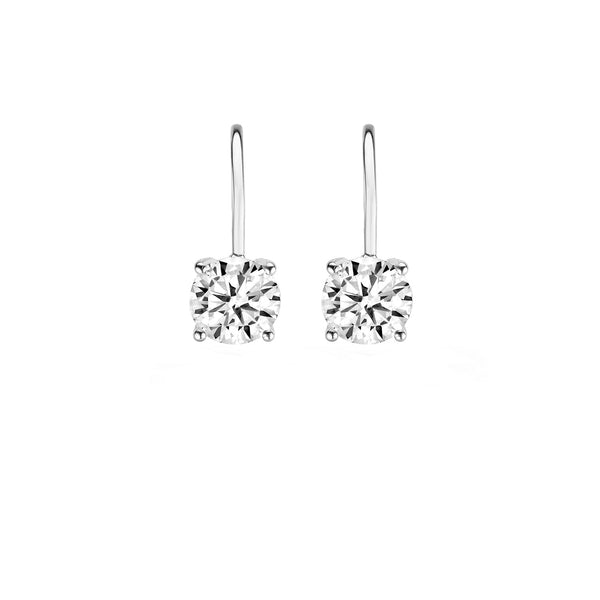 Earrings 7055WZI - White Gold (14Crt.) with Zirconia