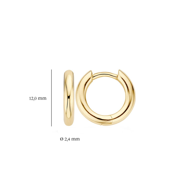Earrings 7133YGO - Yellow Gold (14Crt.)